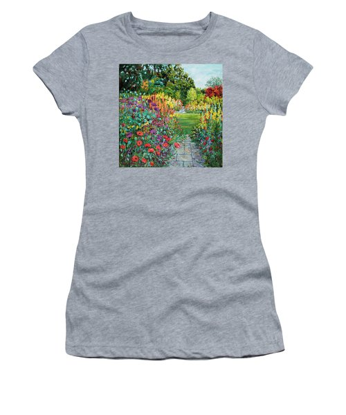 Landscape With Poppies Women's T-Shirt (Athletic Fit)