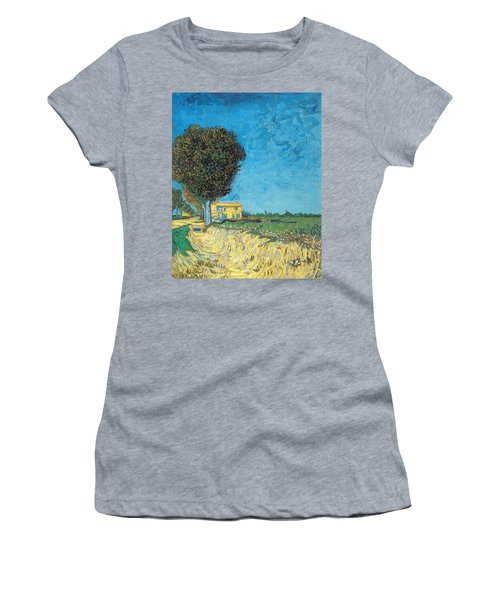 Women's T-Shirt featuring the painting Lane Near Arles by Van Gogh