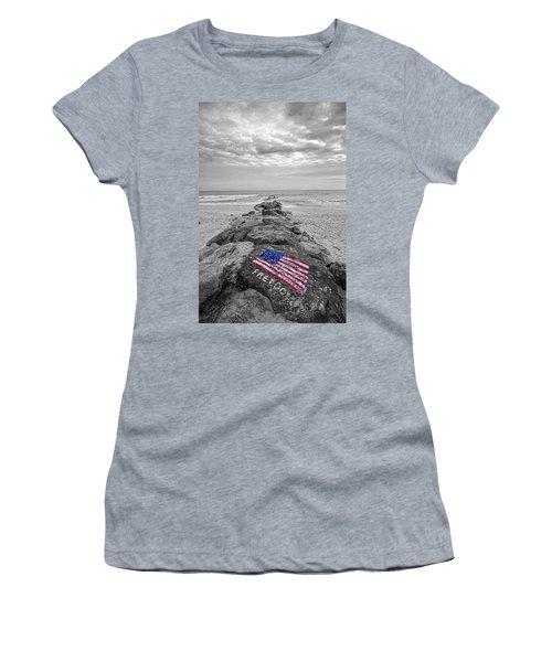 Lashley Beach Freedom Women's T-Shirt (Athletic Fit)