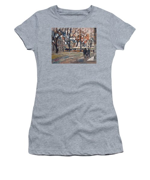 Late November At The Our Lady Square Maastricht Women's T-Shirt (Junior Cut) by Nop Briex
