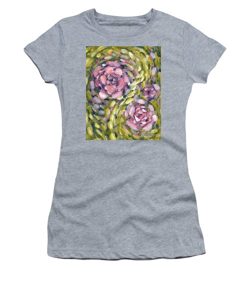 Women's T-Shirt (Junior Cut) featuring the digital art Late Summer Whirl by Holly Carmichael