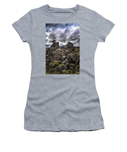 Lava Rock And Clouds Women's T-Shirt