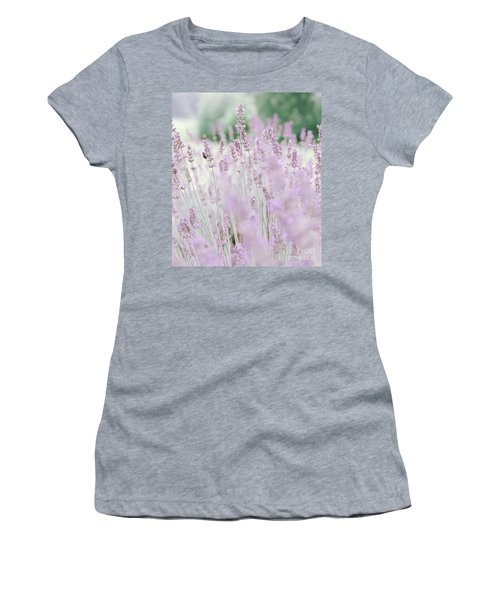 Women's T-Shirt (Athletic Fit) featuring the photograph Lavender 6 by Andrea Anderegg