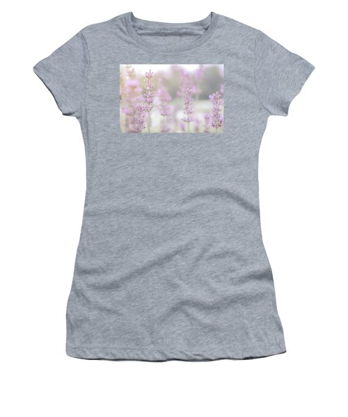 Women's T-Shirt (Athletic Fit) featuring the photograph Lavender 7  by Andrea Anderegg