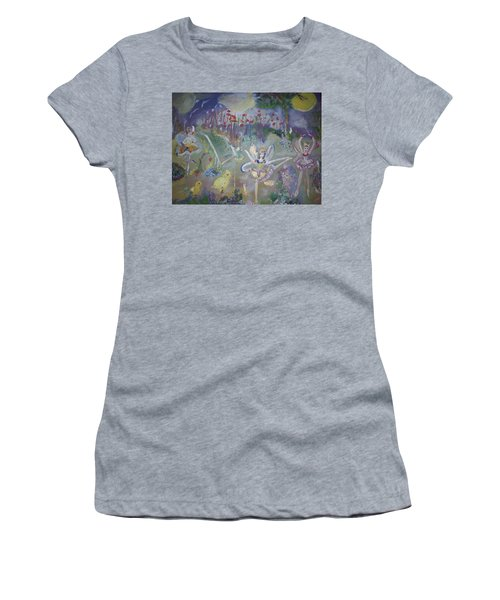 Lavender Fairies Women's T-Shirt (Junior Cut) by Judith Desrosiers