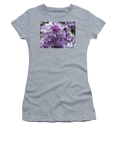 Women's T-Shirt featuring the photograph Lavender Lilacs by Cris Fulton