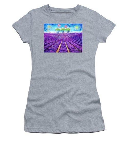 Lavender Women's T-Shirt (Athletic Fit)