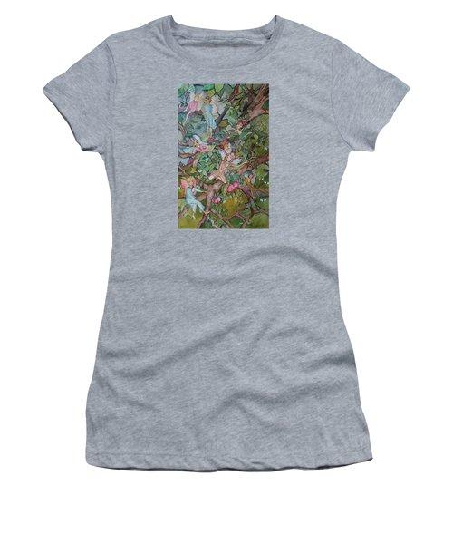 Lazy Days Women's T-Shirt (Junior Cut) by Claudia Cole Meek