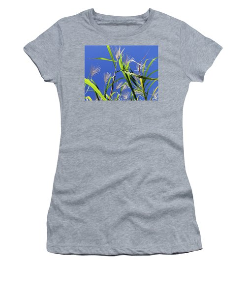 Leaves In The Wind Women's T-Shirt (Athletic Fit)