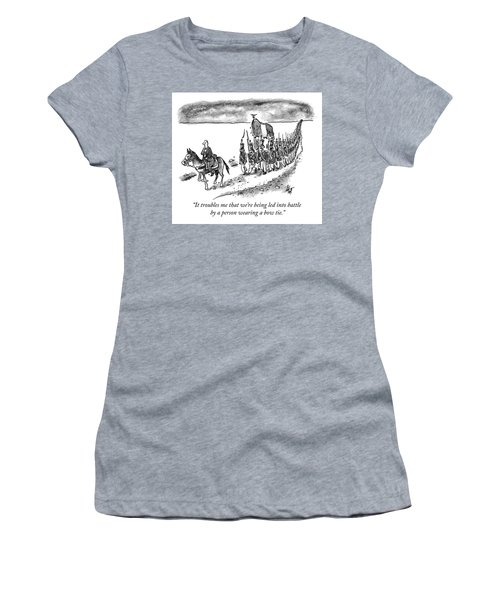 Led Into Battle By A Bow Tie Women's T-Shirt