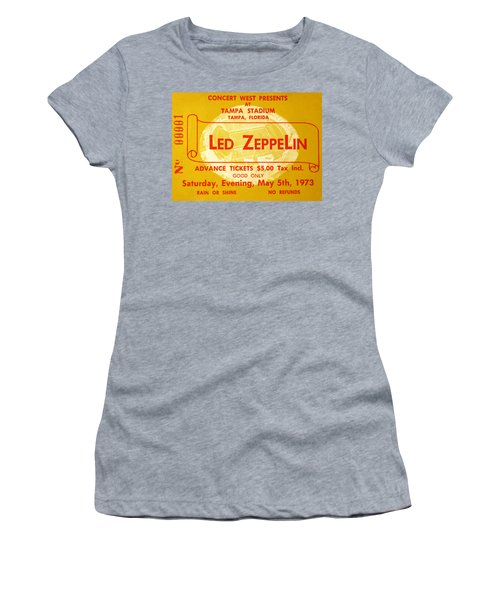 Led Zeppelin Ticket Women's T-Shirt (Athletic Fit)