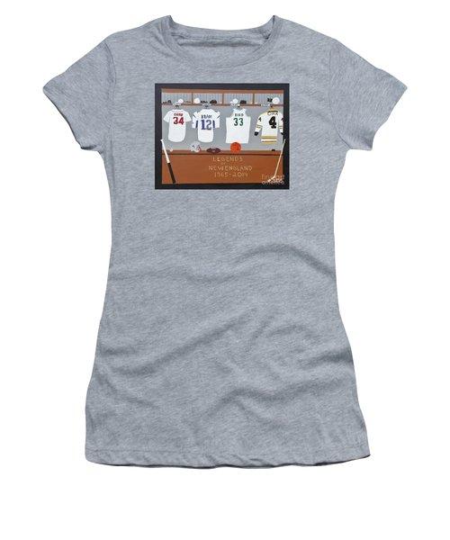 Legends Of New England Women's T-Shirt (Junior Cut) by Dennis ONeil