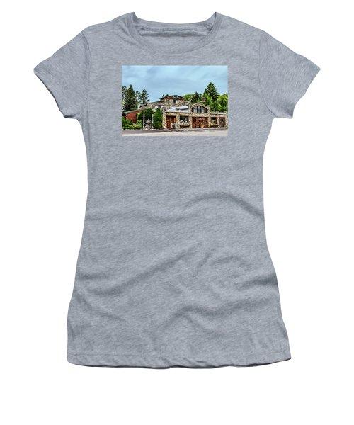 Women's T-Shirt (Junior Cut) featuring the photograph Legs Inn Of Cross Village by Bill Gallagher