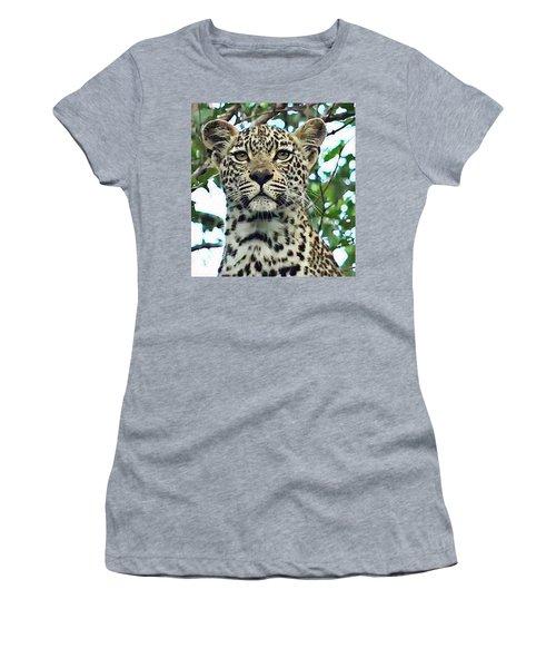 Leopard Face Women's T-Shirt (Athletic Fit)