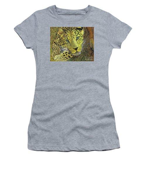 Leopard Gaze Women's T-Shirt (Junior Cut)