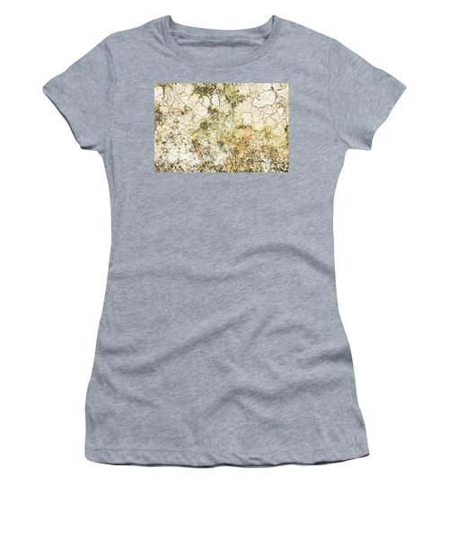 Women's T-Shirt (Junior Cut) featuring the photograph Lichen On A Stone, Background by Torbjorn Swenelius