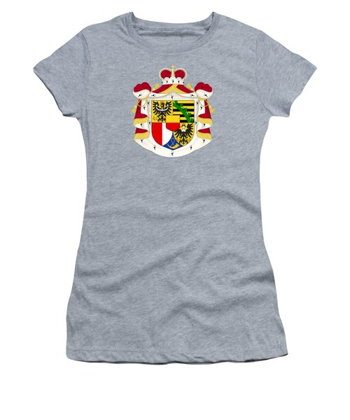 Women's T-Shirt (Junior Cut) featuring the drawing Liechtenstein Coat Of Arms by Movie Poster Prints