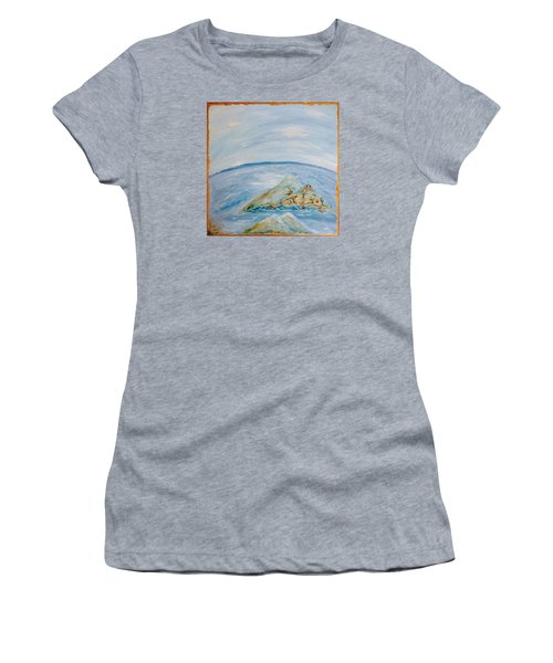 Life In The Middle Of The Ocean Women's T-Shirt (Athletic Fit)