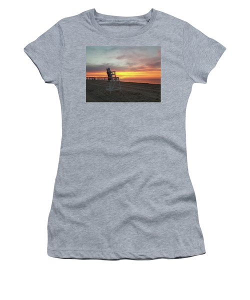 Lifeguard Stand On The Beach At Sunrise Women's T-Shirt