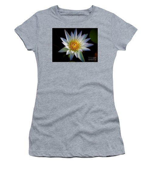Light Blue Water Lily Women's T-Shirt (Athletic Fit)