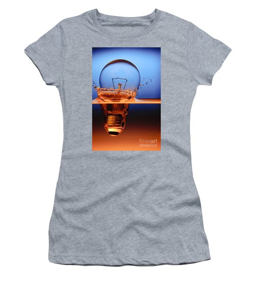 Light Bulb And Splash Water Women's T-Shirt (Athletic Fit)