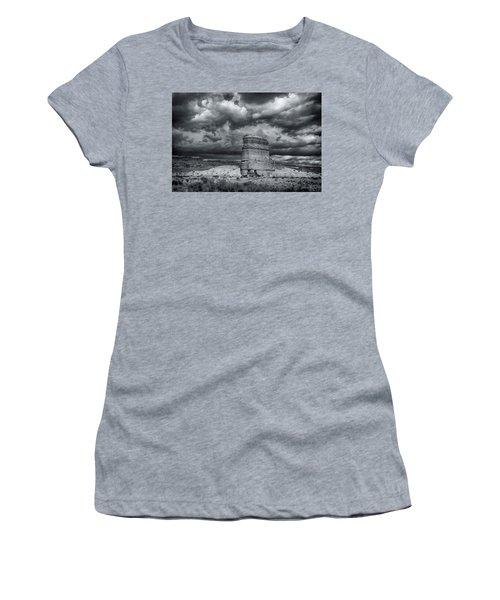Women's T-Shirt (Junior Cut) featuring the photograph Light On The Rock by John A Rodriguez
