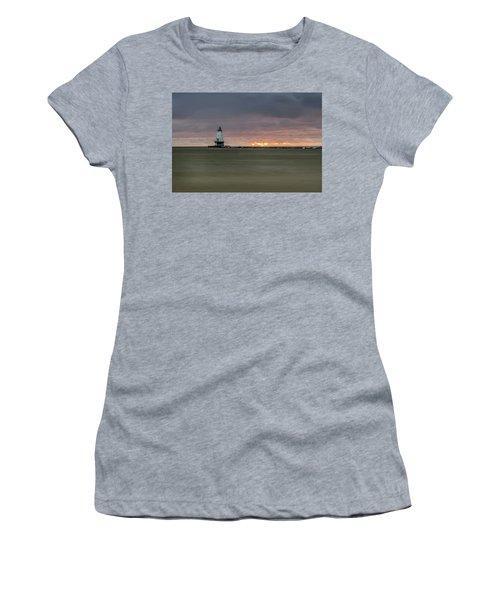 Lighthouse And Sunset Women's T-Shirt