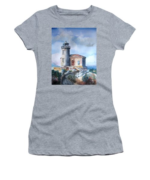 Lighthouse At Bandon Women's T-Shirt (Athletic Fit)
