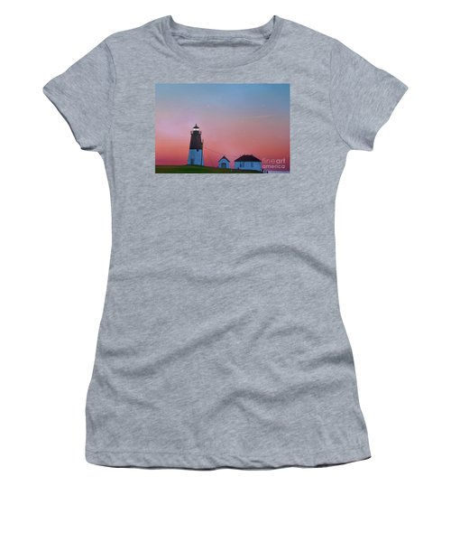 Women's T-Shirt (Junior Cut) featuring the photograph  Lighthouse At Sunrise by Juli Scalzi