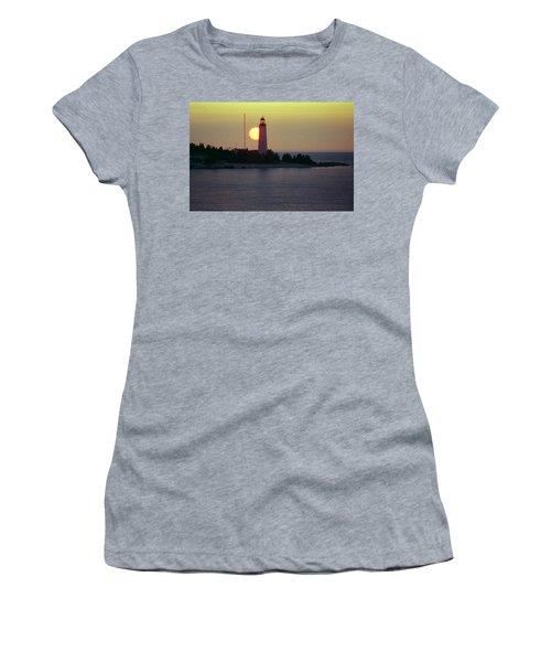 Lighthouse At Sunset Women's T-Shirt