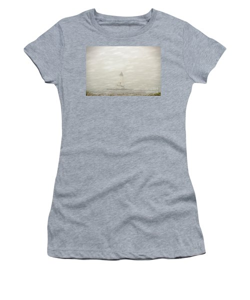 Lighthouse In Snowstorm Women's T-Shirt (Athletic Fit)