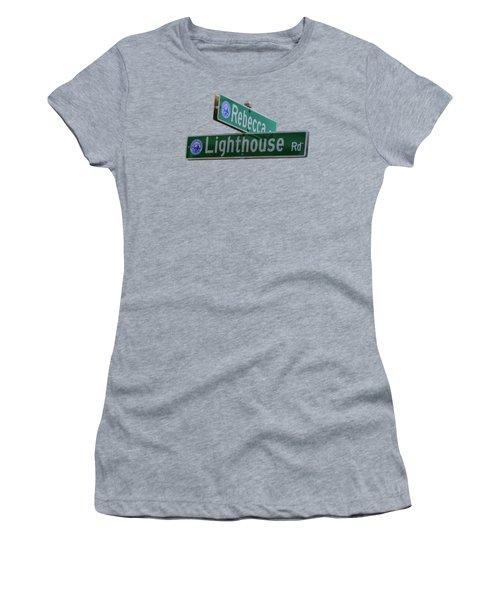 Lighthouse Road Women's T-Shirt (Junior Cut) by Brian MacLean