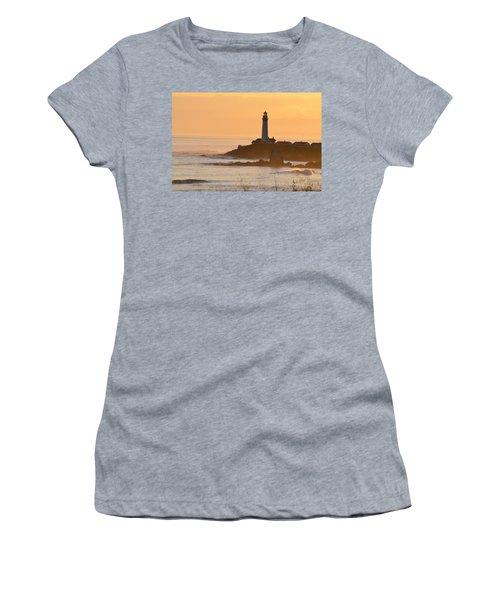 Lighthouse Sunset Women's T-Shirt (Junior Cut) by Alex King