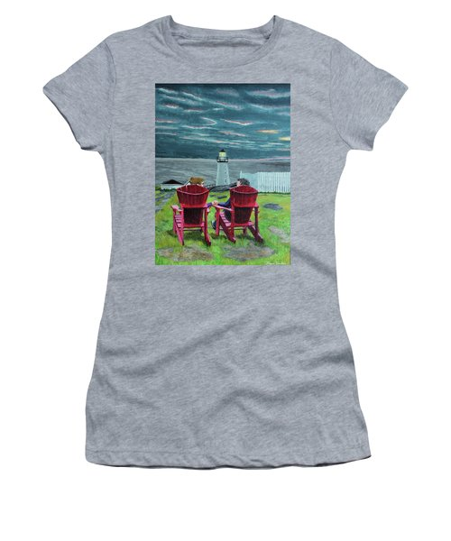 Lighthouse Lovers Women's T-Shirt (Athletic Fit)