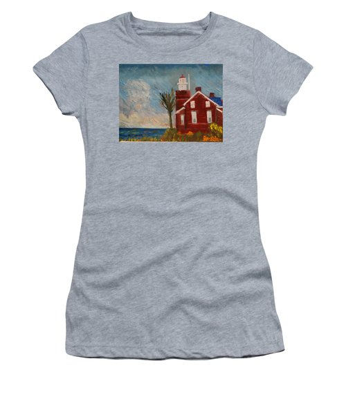 Big Bay Lighthouse  Women's T-Shirt (Athletic Fit)