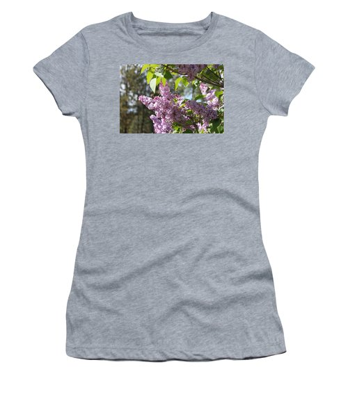 Women's T-Shirt (Junior Cut) featuring the photograph Lilacs 5545 by Antonio Romero