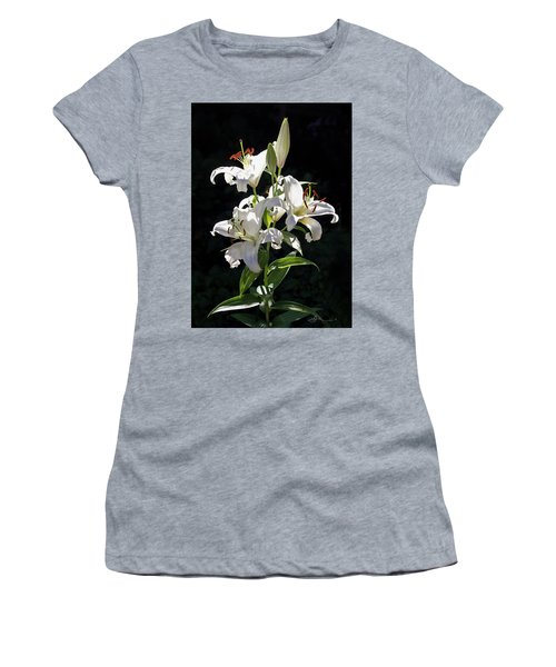 Lilies In The Sun Women's T-Shirt (Athletic Fit)