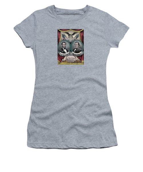Lincoln And Johnson Election Banner 1864 Women's T-Shirt