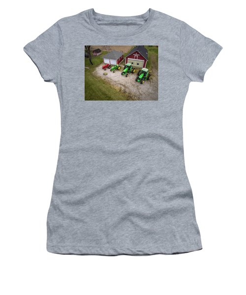 Lining Up The Tractors Women's T-Shirt (Athletic Fit)