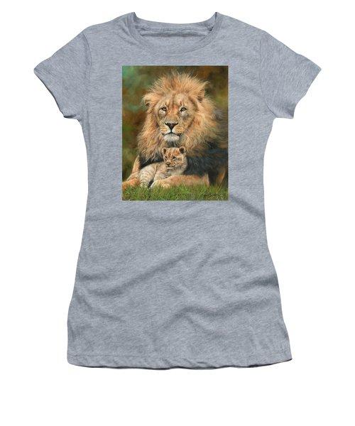 Lion And Cub Women's T-Shirt