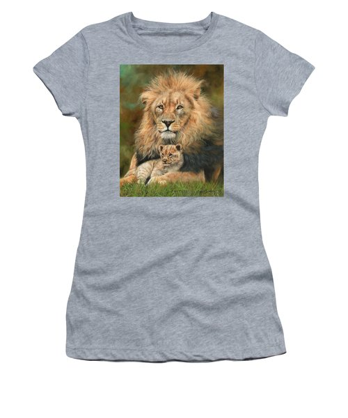 Lion And Cub Women's T-Shirt