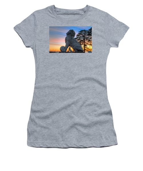 Lions Bridge At Sunset Women's T-Shirt (Athletic Fit)