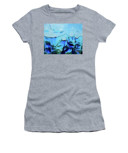 Women's T-Shirt (Athletic Fit) featuring the photograph Liquid Abstract  #0059 by Barbara Tristan