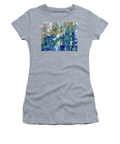 Women's T-Shirt (Athletic Fit) featuring the photograph Liquid Abstract #0061 by Barbara Tristan
