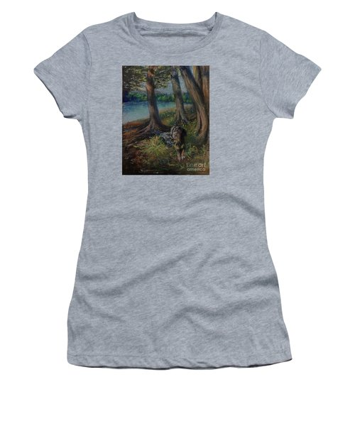 Listening To The Tales Of The Trees Women's T-Shirt (Athletic Fit)