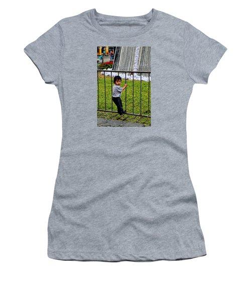Little Boy In Peru Women's T-Shirt