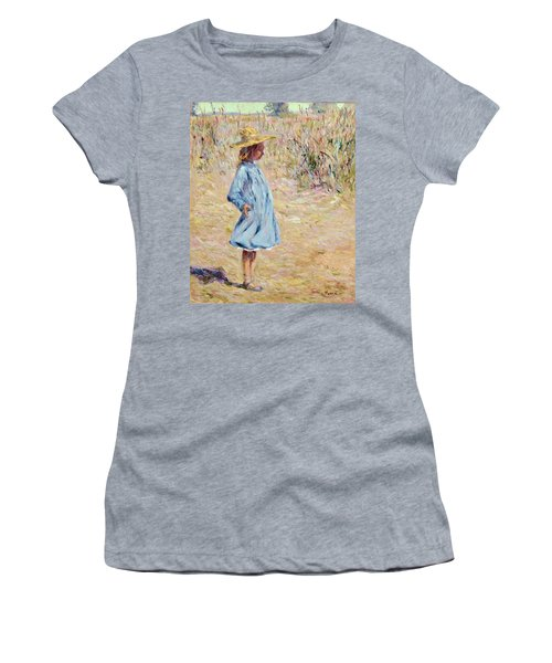 Little Girl With Blue Dress Women's T-Shirt