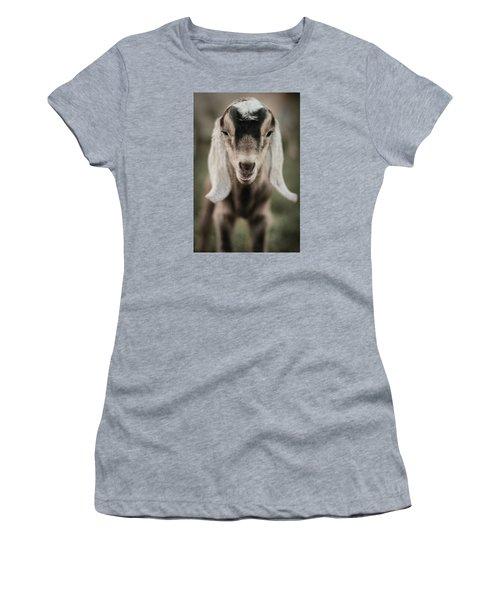 Little Goat In Color Women's T-Shirt (Junior Cut) by Kelly Hazel
