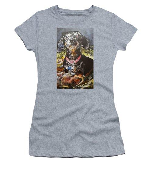 Little Guy Women's T-Shirt (Junior Cut) by Jan VonBokel