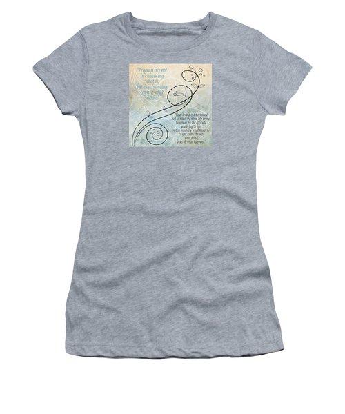Women's T-Shirt (Junior Cut) featuring the digital art Living by Angelina Vick